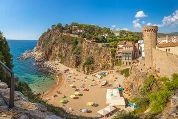 la plagette d'El Codolar, Tossa de Mar, Costa Brava, Espagne