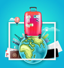 Go travel concept. Vector illustration
