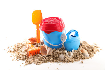 sand with toys