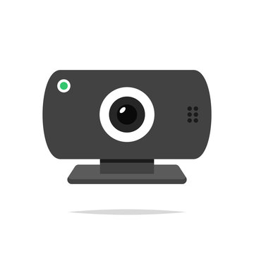 Webcam vector isolated