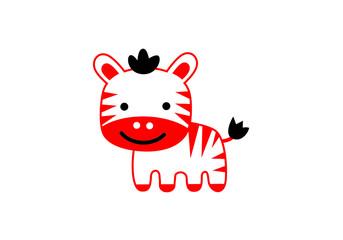 Tiger cartoon cute vector