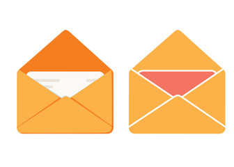 Message icon, envelope illustration vector mail icon, send letter isolated.