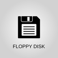 Floppy disk icon. Floppy disk symbol. Flat design. Stock - Vector illustration