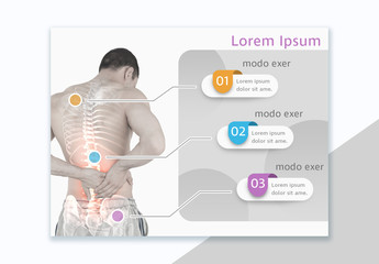 Back Pain Infographic Layout