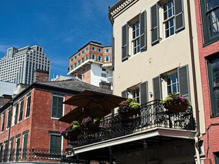 Old French Quarter Buildings with the CBD in Background 2