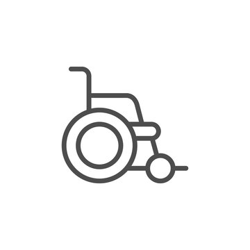 Wheelchair line icon