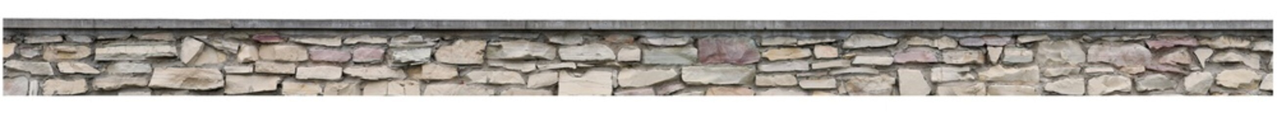 Stone fence garden rock wall isolated old brick stack panorama panoramic stonewall pattern closeup large limestone texture lined slate slab textured dolomite sedimentary beige grey red yellow bricks