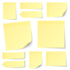 Collection Yellow Stick Notes