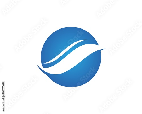 s letter wave logos template symbols design app stock image and