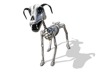 Hand crafted figurine  of Dog skeleton