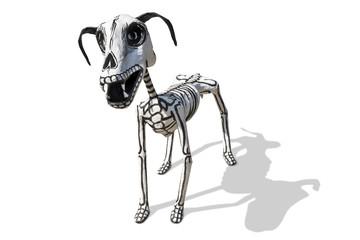 Hand crafted figurine  of Dog skeleton
