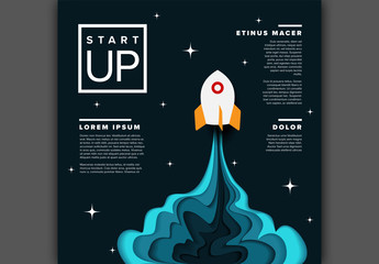 Rocket Ship Business Event Graphic Layout