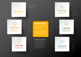 Gray and Yellow Infographic Layout