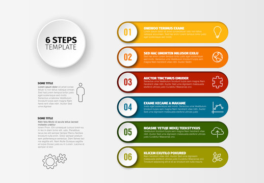 Colorful Six Step Infographic Layout