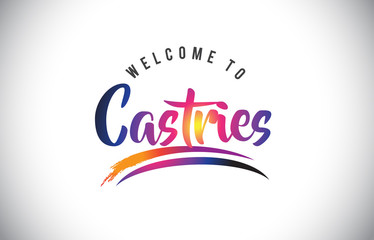 Castries Welcome To Message in Purple Vibrant Modern Colors.