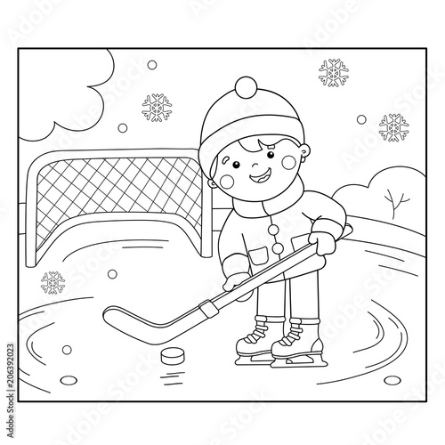 Hockey coloring pages 9 / Hockey / Kids printables coloring pages ... | 500x500