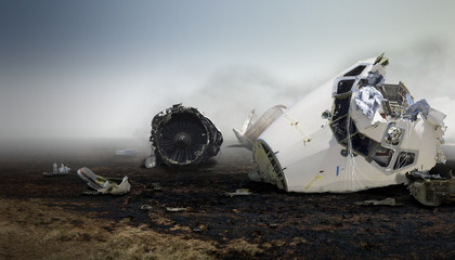 Airplane Crash in Foggy Weather