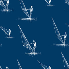 pattern of the windsurfers sketches