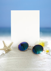 hello summer holiday background & object