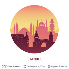 Istanbul famous city scape.