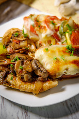 Chicken Marsala Vegetable Tian