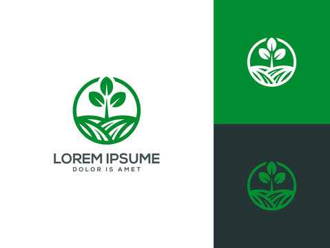 Agriculture logo template vector illustration
