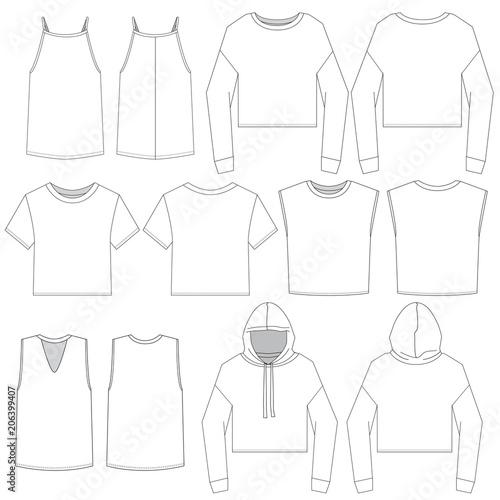 Vector template for Trendy Women's Tops
