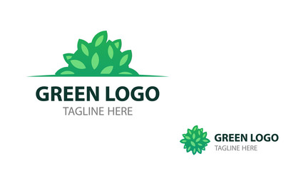 Eco logo with Shrub for signboard and business card of eco projects