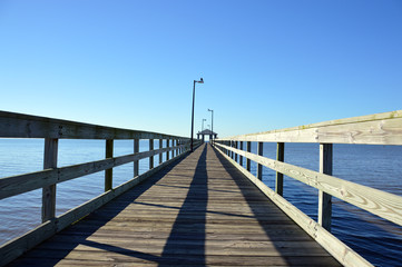 Pier to cloudless sky (2)