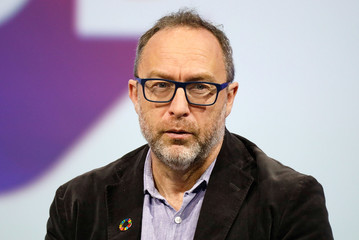 Wikipedia co-founder Jimmy Wales attends the Viva Tech start-up and technology summit in Paris