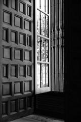 Blick aus einem Fenster in Sevilla, Spanien