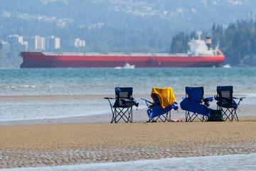 Beach Chairs on Spanish Banks