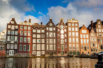 Amsterdam houses along canal