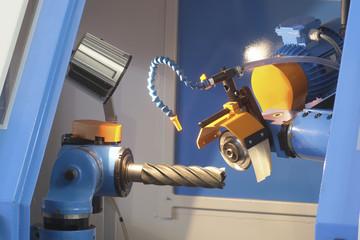 Metalworking drill machine close up