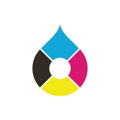 CMYK color drop logo