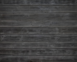 Dark Gray or Black Rustic Painted Wood Boards Background for a Design Element.  It's a Horizontal flat layout