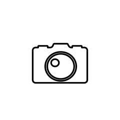 camera vector art line icon for app and website