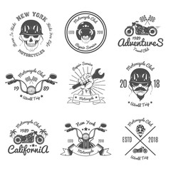 Set of Vintage Emblem For Motorcycle Club.Biker Club.Vector illustration