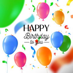 Happy birthday party fun balloon greeting card