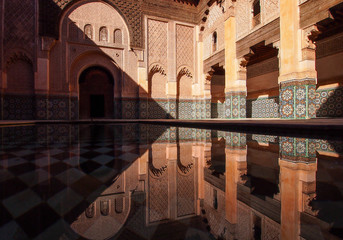 The Ben Youssef Madrasa was an Islamic college in Marrakech, Morocco, named after the Almoravid sultan Ali ibn Yusuf