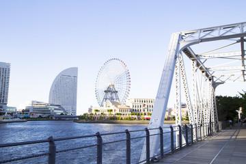 The landscape of Yokohama kishamichi promenard