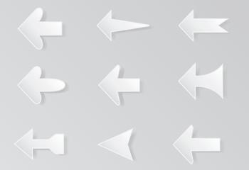 arrows icon set  vector illustration on background