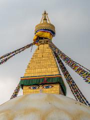 Bouddhanath Stupa the landmark of in Kathmandu Nepal