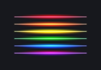 Neon rainbow flag lines for pride month