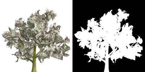 денежное дерево 50 долларов США альфа канал