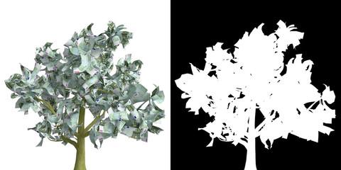денежное дерево 100 евро альфа канал