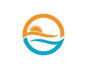 Beach water eave logos symbols