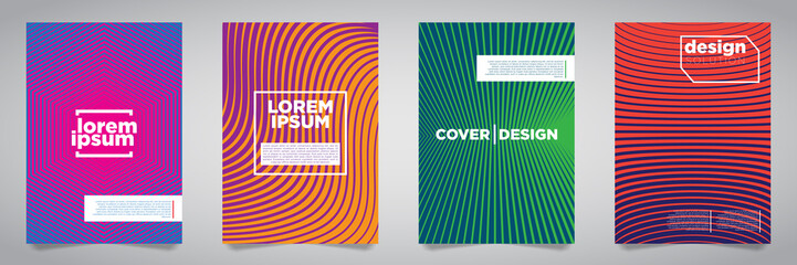 Colorful Futuristic Minimalist Covers Design. EPS10 Vector Illustration.