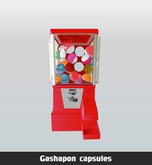 eps Vector image:Gashapon capsules