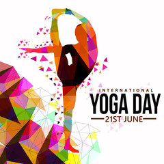 Vector illustration of international yoga day.